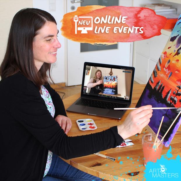 Beschäftigung für Zuhause – unsere ArtMasters Online Mal-Events